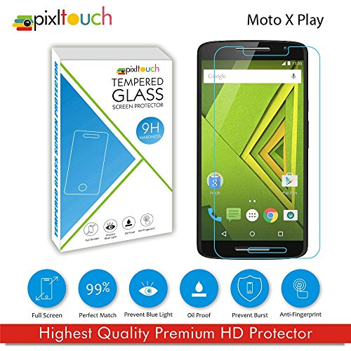 PIXLTOUCH Mobile Tempered Glass for Moto X Play Screen Protector