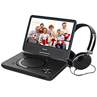 WONNIE 9.5�?� Portable DVD Player with 270° Swivel Screen, Best Gift for Kids, Support USB/SD Slot, Direct Play in Formats AVI/MP3/JPEG/RMVB (9.5, Blue)