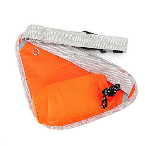 Dairyshop Sportivo Marsupio Running Cintura Multifunzione Borsa per Uomo Donna Hydration Marsupio per Palestra Ciclismo Alpinista (verde) arancione