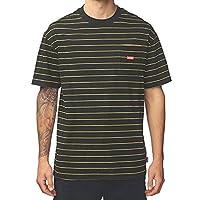 Globe Bar Stripe Short Sleeve T-Shirt Medium Black