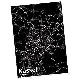 Mr. & Mrs. Panda Postkarte Stadt Kassel Stadt Black - Stadt Dorf Karte Landkarte Map Stadtplan Postkarte, Postkarten, Einladungskarte, Geschenkkarte, Brief, Spruch des Tages, Kärtchen, Geschenk, Karte, Papier, Einladung, Fan, Fanartikel, Souvenir, Andenken, Fanclub, Stadt, Mitbringsel