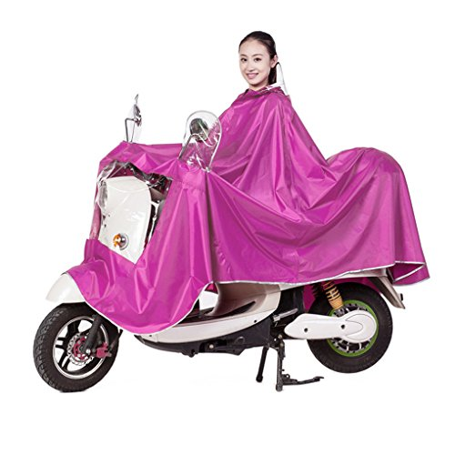 Große Damen Herren Regenponcho Regenumhang Motorad Regenmantel Regenjacke mit Reflektierende Wasserdichte Trenchcoat Parka Regenkleidung Raincoat Regencape Rosa