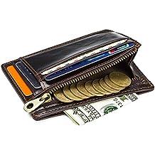 HASAGEI Tarjetero Hombre Cartera Hombre Pequeña de Cuero Tarjeteros para Tarjetas de Crédito RFID Monedero para
