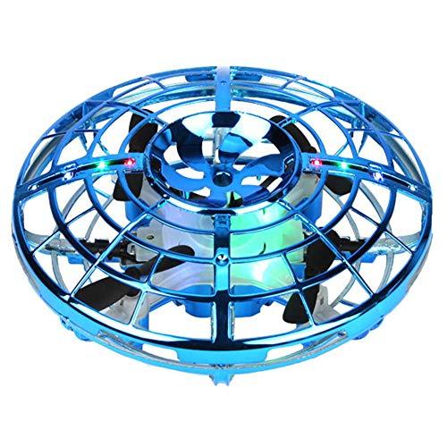 Mini Drohne für Kinder, UFO Spielzeug RC Fliegender Ball, UFO Mini Drohne Hubschrauber Quadrocopter mit Fernbedienung und LED Licht, Infrarot Induktions Flying Ball Fliegendes Spielzeug