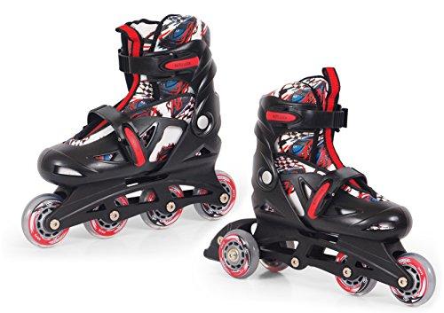 SMJ sport Kinder 2IN1 Convertible CRK13P Car Inline-Skates, Mehrfarbig, - 4-rad-skates Damen