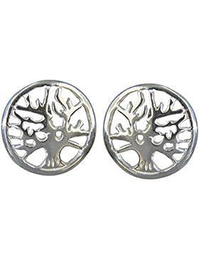 Janusch Ohrstecker Baum des Lebens 925 Sterling-Silber