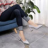 Clearance Sale!OverDose Womens Fashion Square Heel Shoes Pointed Toe Shallow High-Heeled Shoes
