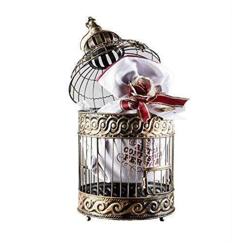La gabbia di natale - cesto natalizio con panettone di pasticceria artigianale con incarto lusso assortito 750g