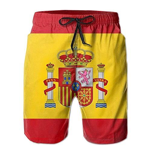 Beach Volleyball Shorts, Spain Flag Summer Casual Shorts for Men Boys, Outdoor Short Pants Beach Accessories,Size:XXL - Oakley Lightweight Shorts