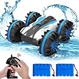 Amphibious Waterproof Remote Control Boat 2.4Ghz 4WD All Terrain RC Truck/Double-Side 360 Degree