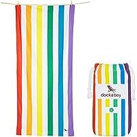 Dock & Bay Toallas de Microfibra para Playa y Viajes | Summer - Arco Iris | 160x80cm