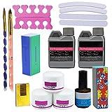 Coscelia Líquido Acrílico Polvo Acrílico Set Manicura Kit de Decoración para Uñas Herramientas de Manicura Nail Art Diseño Arte de Uñas