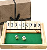Jaques of London Shut the Box Dice Game - Premium Luxury 9 Numbers Dice Games Since 1795