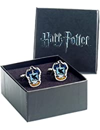 Oficial Harry Potter Hogwarts Ravenclaw Crest plata plateado gemelos - en caja