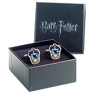 Offizieller Harry Potter Hogwarts Ravenclaw Wappen Silber vergoldete Manschettenknöpfe – Boxed