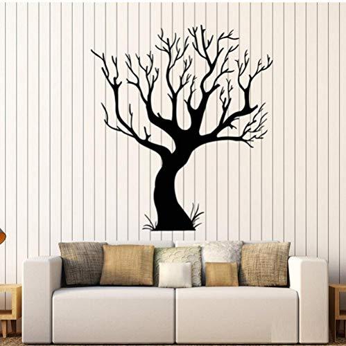 Wandaufkleber Gothic Baum Wandtattoos Bare Natur Stil Raumkunst Aufkleber Home Schlafzimmer Wohnzimmer Dekoration Kunstwand Für Kindergarten 56x62cm
