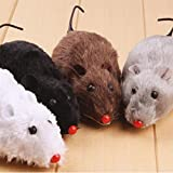 Winkey Funny Toy, Novelty Tricky Moving Funny Wind Up Clockwork Racing Plush Mouse Toy for Kids,The Best Toy Gift (B)