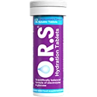 O.R.S Hydration Tablets with Electrolytes, Vegan, Gluten and Lactose Free Formula - Natural Blackcurrant Flavour, 12 Tablets