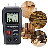 #1: Techtest Wood Moisture Meter, Digital 4 Calibrated wood groups Detector, 2 pins Portable Tester Water, HD LCD Display with one 9V Battery(Included) Range 0% - 99.9% moisture meter woodworking general tools firewood)