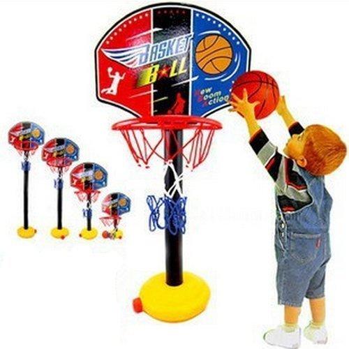 Basketball Baby Spielzeug (Kind Baby Klassisch verstellbar Höhe innen / Außenbereich / haushalt tragbar Jagd Basketball Schaum Holzrahmen Hoop Sport Spielzeug Weihnachten Geburtstagsgeschenk)