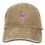 Cowboy Hat Wearing Glasses Flamingos And Hibiscus Adult Sport Hat Adjustable