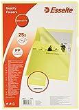 Esselte Copy-safe Klarsichthülle Cut Flush (DIN A4), 25 Stück gelb