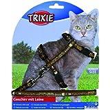 Harnais chat avec laisse, motifs, nylon, 25?44 cm/10 mm, 1,20 m