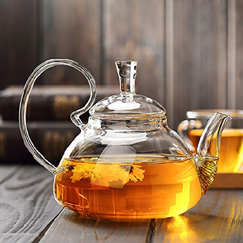 Teapot Lid Borosilicate Glass Tea Kettle Stovetop Safe Glass