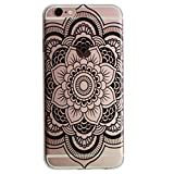 For iPhone 6 / iPhone 6s Case,iphone 6S case for girls,Never stop Exploring® Ultra Slim Soft TPU Case Cover Protective Bumper for Apple iPhone 6 / iPhone 6s 4.7 Inch Black Mandala Lace Painted