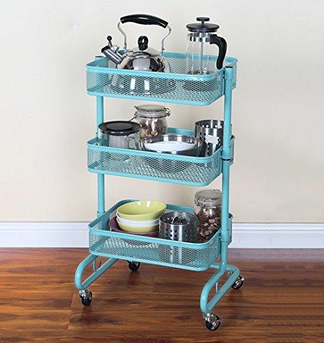 &étagère de rangement Étagères multifonctionnelles de stockage de chariot de roulement étagère de rangement de cuisine de stockage de chariot étagère en métal de 3 étagères de stockage Rack de finitio