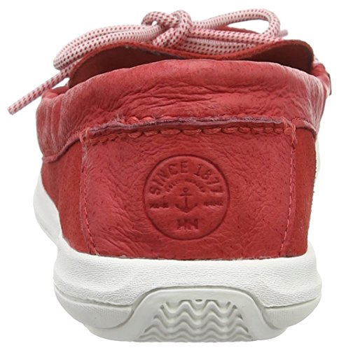Helly Hansen Faerder Deck, Chaussures Bateau Femme Rouge (Poppy Red/penguin/off White)
