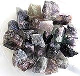 Fluorit aus China, von weiss bis violett, 500 g. Rohsteine (1 kg = 19,00 EUR)