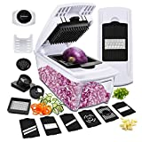 Vegetable Chopper 13 in One, Godmorn Newest 13 Pcs Multi-Function Vegetable Dicer, Mandolin