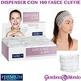 Spender mit 100Kopfhörer Haar Damen Einweg in TNT für Kosmetikerin puliza Gesichts-Solarium Profi