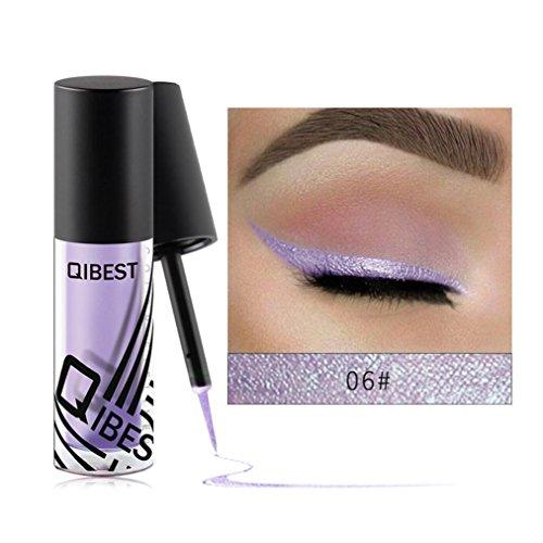Pearl ombre à paupières liquide, YUYOUG Eyeliner liquide fard à paupières brillant Mode (F)