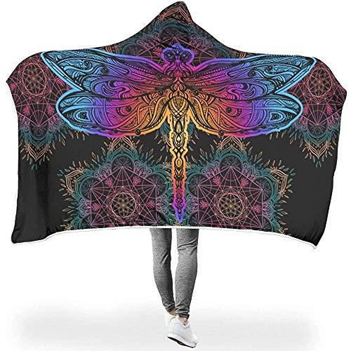 Nat Abra Insekt Magische Blumen Totem Print Decken Tragbar Kuschelig Warme Winter Plüsch Sherpa Cape Throw Wrap Robe Decke Für Erwachsene Kinder Camping -