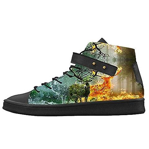 Dalliy art deer Men's canvas Footwear Sneakers Shoes Chaussures de toile Baskets