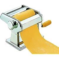 Hoffmanns Nudelmaschine Pasta Maker | aus Edelstahl | manuelle Nudel-Maschine für Spaghetti, Tagliatelle oder Lasagne Pastamaschine zum Ausrollen von Teig