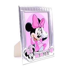 Idea Regalo - Cornice Portafoto Disney Bambina Minnie Personalizzabile cm 13x18