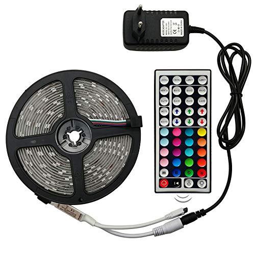 SEXTT LED-Lichtstreifen, 24Key RF Remote LED 12V RGB-Leuchten mit 30 Leuchten IP65 wasserdicht 10 Meter weiches Licht Streifen