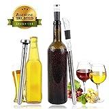 Birra Chiller di raffreddamento del bastone di refrigerazione, UMCORP acciaio inossidabile Stick Chilling con aerazione, Non-Drip Beccuccio = la soluzione refrigeratore del vino 3-in-1