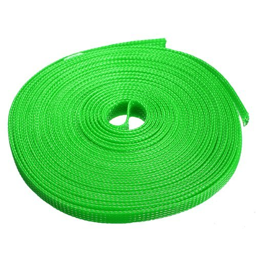 water-wood-6mm-expanding-braided-cable-wire-sheathing-sleeve-sleeving-harness-10m328feet