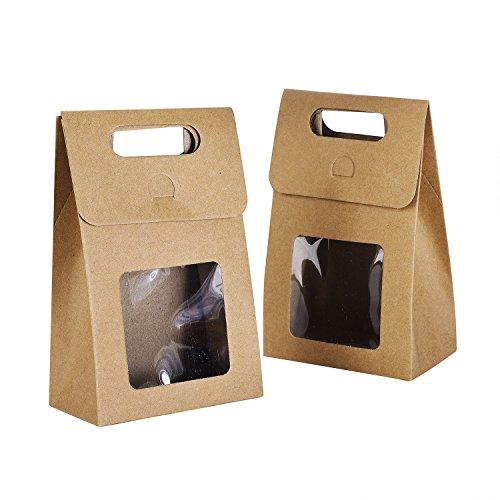 de25eaa9b Syndecho Bolsas de papel kraft, 24 unidades Bolsas de pie Cajas para  caramelos,.