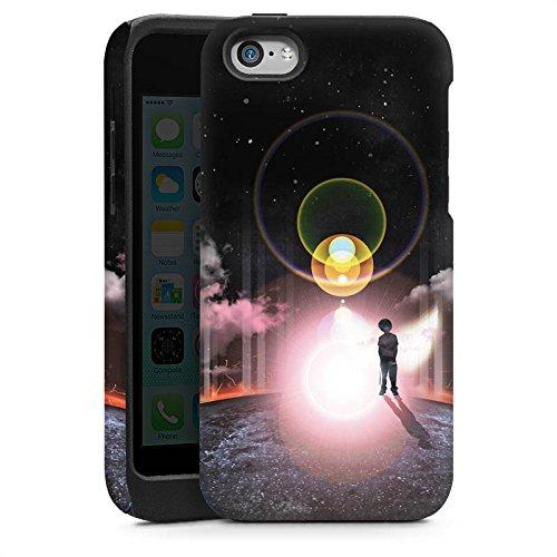 Apple iPhone 5s Housse Étui Protection Coque Galaxie Galaxie Nuages Cas Tough brillant