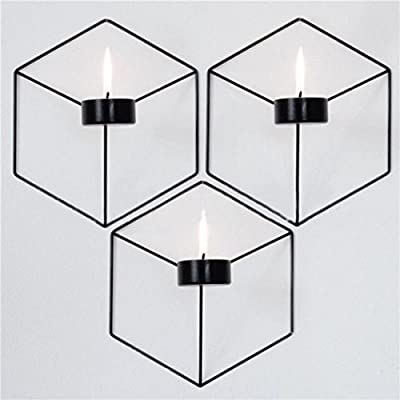 MOMOLA 3D Geometric Candlestick Nordic Style Metal Candle Holder Sconce for Wall Creative Home Decor from Momola
