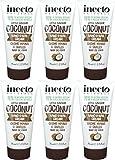 Sechs Packungen von Inecto Kokos Hand & Nagel Creme 75ml