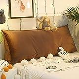 YSYW Kissen Lesen Kissen Rückenkissen Lesen Kopfkissen Nackenrolle Wedge Pillow Hals Ergonomisches Für Sofa Bett Rückenlehne Keilkissen,F-90 * 24 * 45cm