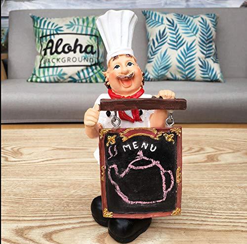 LOOKUR Kreative Desktop Chef Cafe Bäckerei Bar Kreide Message Board Werbewerbung Handbemalte Tafel-A - Board Keramik-message