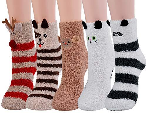 Zoylink Kuschel Socken, Flauschige Socken Bettsocken Damen Warme Socken Damen Socken