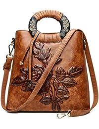 Damentasche Handtasche Umhängetasche Schultertasche PU neu Ethno-Stil Prägung